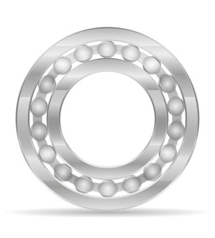 illustrazione vettoriale di cuscinetti a sfera in metallo