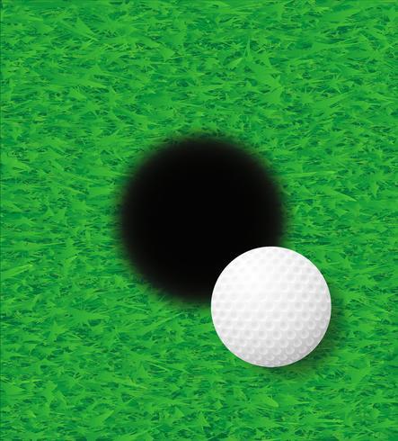illustrazione vettoriale palla da golf