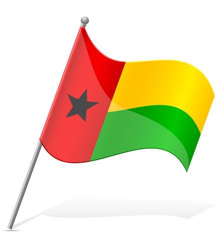 bandiera della Guinea-Bissau illustrazione vettoriale