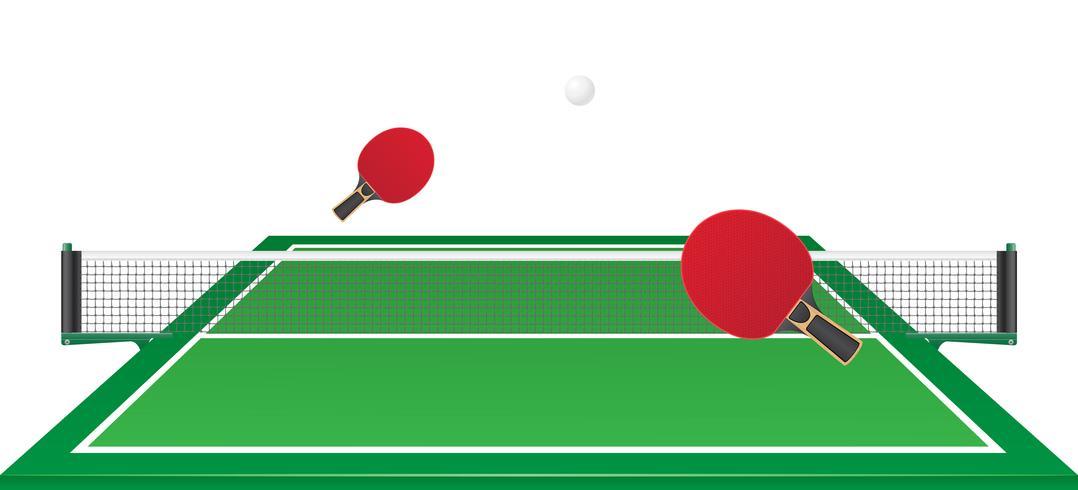 illustrazione vettoriale di ping pong ping pong