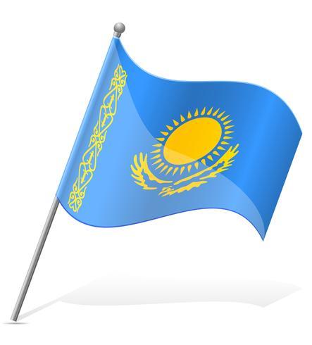 bandiera del Kazakistan illustrazione vettoriale