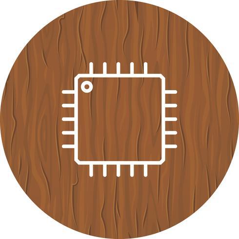 Progettazione dell'icona del processore vettore
