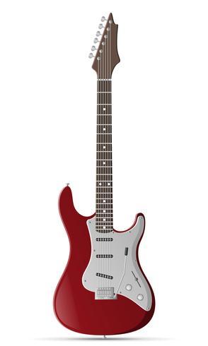illustrazione di stock di chitarra elettrica vettore