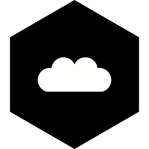 disegno dell'icona della nube vettore
