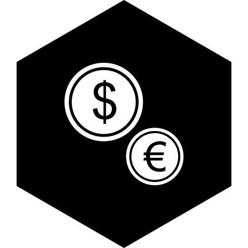 Disegno dell'icona di valute vettore