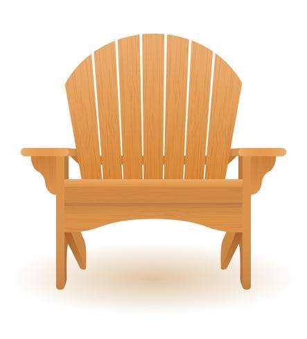 sedia a sdraio lettino poltrona da spiaggia o giardino fatta di illustrazione vettoriale in legno