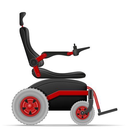 sedia a rotelle elettrica per disabili illustrazione stock vettoriale