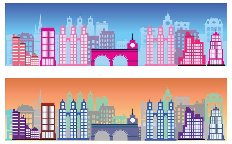 Città colorata vettore
