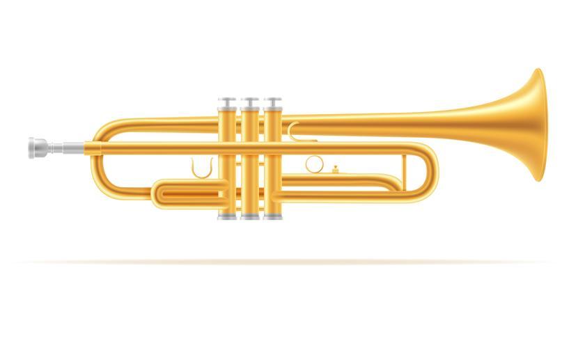 illustrazione vettoriale di stock strumenti musicali a fiato vento