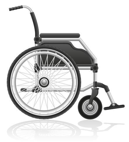 illustrazione vettoriale di sedia a rotelle