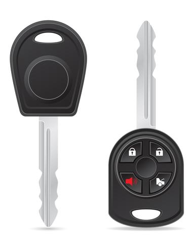 illustrazione vettoriale chiave auto