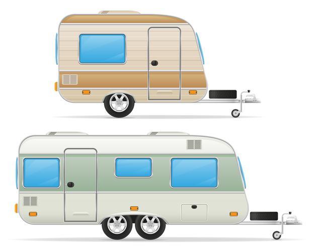 rimorchio illustrazione vettoriale di roulotte