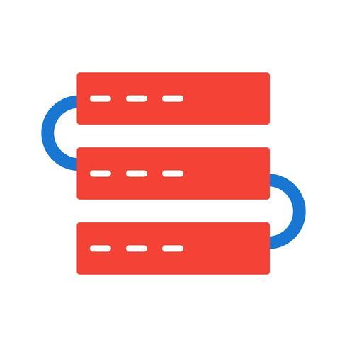 Progettazione dell'icona dei server vettore