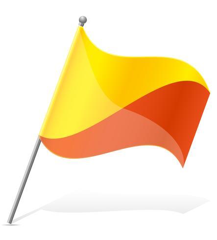 bandiera del Bhutan illustrazione vettoriale
