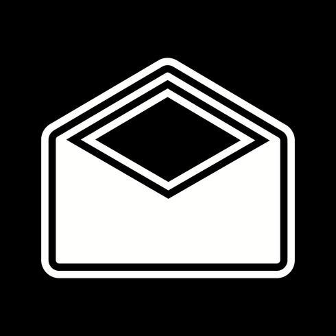 Busta Icon Design vettore