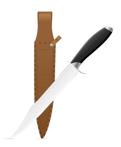 illustrazione vettoriale di caccia coltello