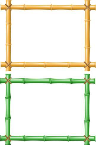 cornice fatta di bambù vettore
