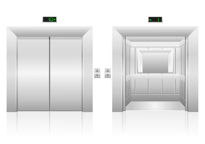 illustrazione di stock di ascensore dell'ascensore vettore