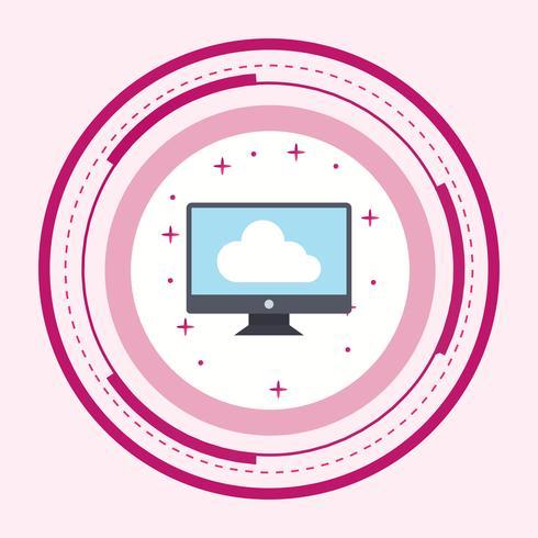 Collegato a Cloud Icon Design vettore
