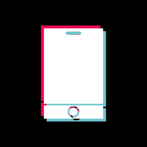 Disegno dell'icona del dispositivo intelligente vettore