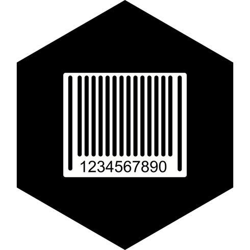 Disegno dell'icona del codice a barre vettore