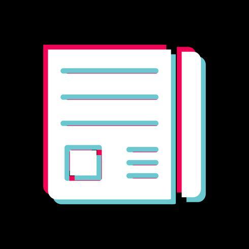 Disegno dell'icona di carta di notizie vettore