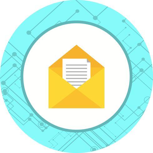 disegno dell'icona della posta in arrivo vettore