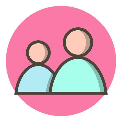 Disegno dell'icona degli utenti vettore