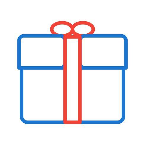 Disegno dell'icona del regalo vettore
