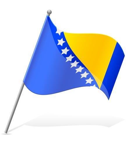 bandiera della Bosnia ed Erzegovina illustrazione vettoriale