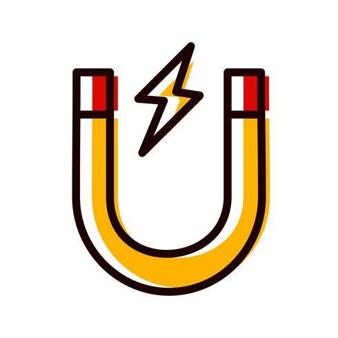 Disegno dell'icona del magnete vettore