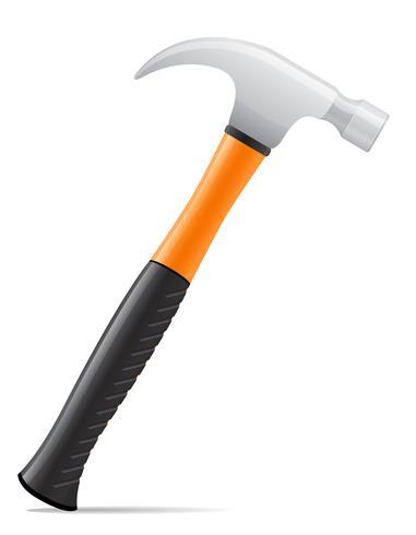 strumento martello con manico in plastica illustrazione vettoriale