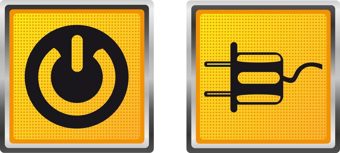 potere di tensione dell'elettricità delle icone per l'illustrazione di vettore di progettazione