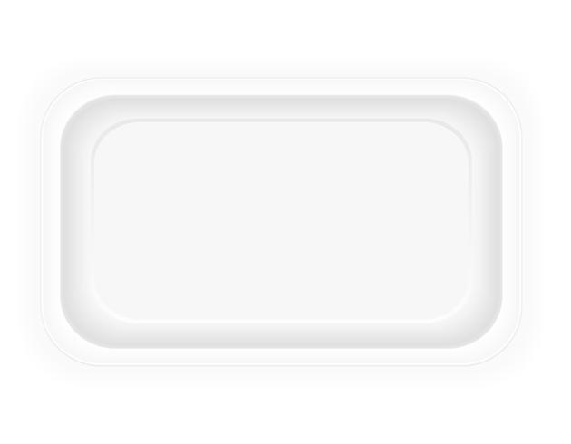 imballaggio di plastica bianca del contenitore per l'illustrazione di vettore dell'alimento