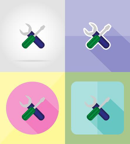 servizio icone piane illustrazione vettoriale