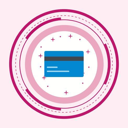Disegno dell'icona della carta di credito vettore
