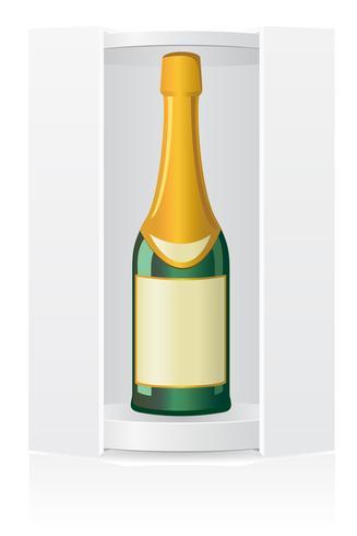 scatola di imballaggio per illustrazione vettoriale bottiglia