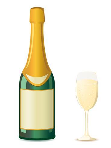 illustrazione vettoriale di champagne