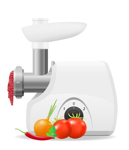 illustrazione vettoriale di cucina elettrica smerigliatrice