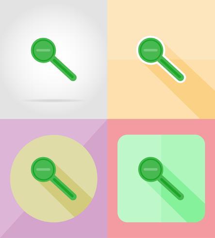 l'ingrandimento e la diminuzione del magnifier per l'illustrazione piana di vettore delle icone di progettazione