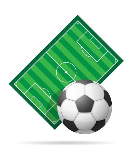 illustrazione di vettore del campo di calcio stadiun di calcio