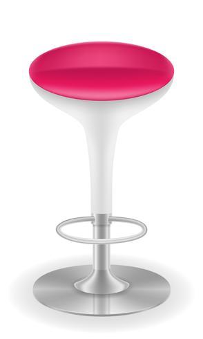 illustrazione moderna di vettore delle feci della sedia della barra
