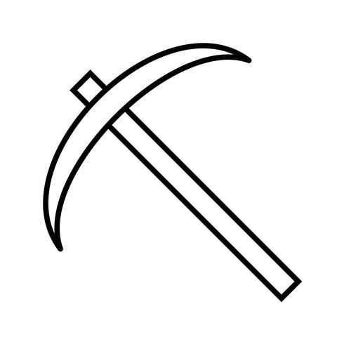Icona nera linea falce vettore