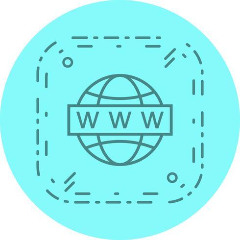 Disegno dell'icona di ricerca Web vettore