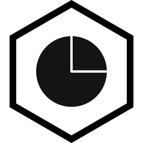 Disegno dell'icona del grafico a torta vettore