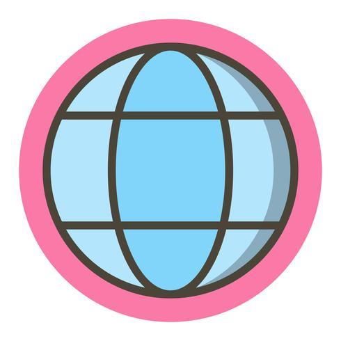 Disegno dell'icona del globo vettore