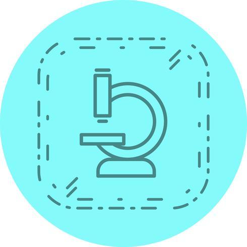 Disegno dell'icona del microscopio vettore