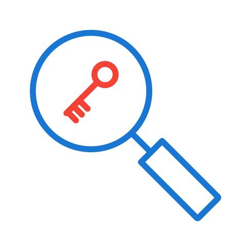 Disegno dell'icona di ricerca di parole chiave vettore