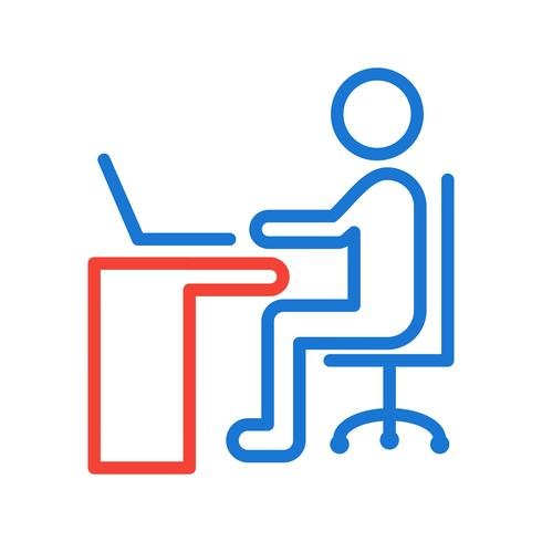 Utilizzando Laptop Icon Design vettore