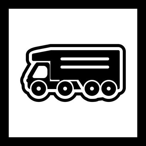 disegno dell'icona del camion di ribaltamento vettore